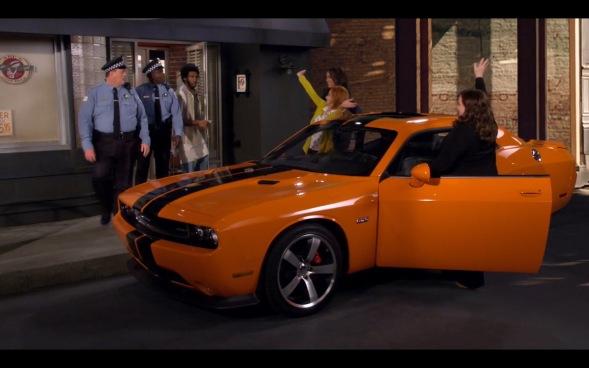 orange-dodge-challenger-srt-393-mike-molly-tv-series